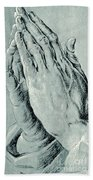 Praying Hands, Also Known As Study Of The Hands Of An Apostle  Bath Towel