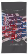 Preamble To The Constitution On Us Map Bath Towel