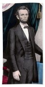 President Abraham Lincoln In Color Bath Towel