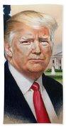 President Donald Trump Art Bath Towel