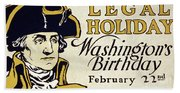 Presidents Day Vintage Poster Hand Towel