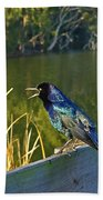 Pretty Bird At A Sunrise Bath Towel