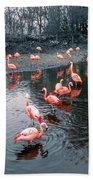 Pretty Flamingoes Bath Towel