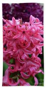 Pretty Hot Pink Hyacinth Flower Blossom Blooming Bath Towel