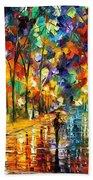 Pretty Night - Palette Knife Oil Painting On Canvas By Leonid Afremov Bath Towel
