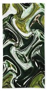 Prickly Pear With Green Fruit Abstract Bath Towel
