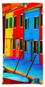 Primary Colors Of Burano Hand Towel