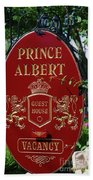 Prince Albert Guest House Sign Provincetown Bath Towel