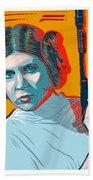 Princess Leia Bath Towel by Antonio Romero