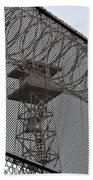 Prison Tower And Fence Bath Towel
