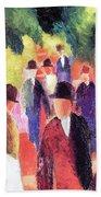 Promenade II By August Macke Bath Towel