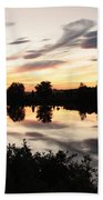Prosser Sunset With Riverbank Silhouette Bath Towel