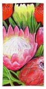 Protea Flowers #240 Bath Towel