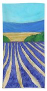Provence Lavender Field Hand Towel
