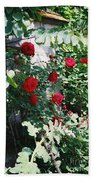 Provence Red Roses Bath Towel