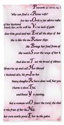 Proverbs 31 Acrostic Hand Towel