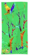 Psychedelic Forest Bath Towel