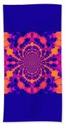 Psychedelic Mandelbrot Set  Kaleidoscope Bath Towel