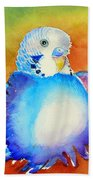 Pudgy Budgie Bath Towel
