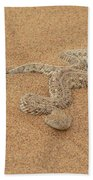 Puff Adder Snake Bath Towel