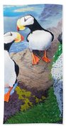Puffins Bath Towel