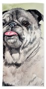 Pug Bath Towel