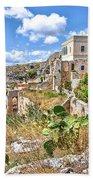 Puglia Canvas Church Hermitage Pulsano - Monte Sant Angelo - Foggia - Gargano Bath Towel