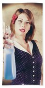 Pump Action Pin Up Woman Killing Glass Grime Bath Towel