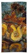 Pumpkin And Sea Buckthorn  Bath Sheet