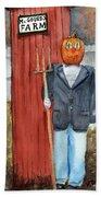 Pumpkin Farmer Bath Towel