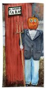 Pumpkin Farmer Bath Towel