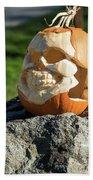 Pumpkin Skull Hand Towel