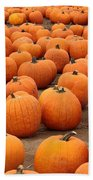 Pumpkins Waiting For Homes Bath Towel