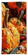 Pumpkins With Warts Bath Towel