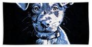 Puppy Dog Graphic Novel Drawing Bath Towel
