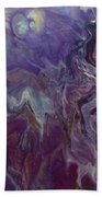 Purple Abyss Bath Sheet by Sonya Wilson
