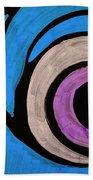 Purple And Blue Eyeball In Saint Augustine Florida Bath Towel