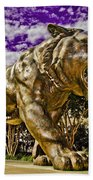 Purple And Gold Hand Towel