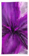 Purple And Gray Art Bath Towel