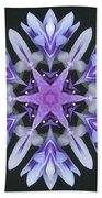Purple And White Frosted Queen Mandala Bath Towel