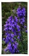 Purple Bell Flowers Hand Towel