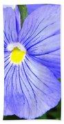 Purple Blue Pansey Bath Towel