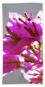 Purple Bougainvillea Flower Bath Towel