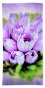 Purple Bouquet Bath Towel