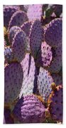 Purple Cacti Bath Towel