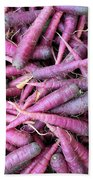 Purple Carrots Number 1 Bath Towel