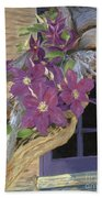 Purple Clematis Bath Towel