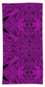 Purple Crossed Arrows Abstract Bath Towel