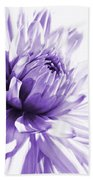 Purple Dahlia Floral Bath Towel