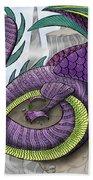Purple Dragon Hand Towel